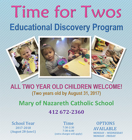 White Oak Borough Time for Twos Educational Discovery Program