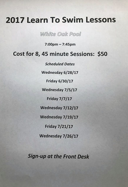 Local news stories happening in and around white oak - White oak swimming pool opening times ...